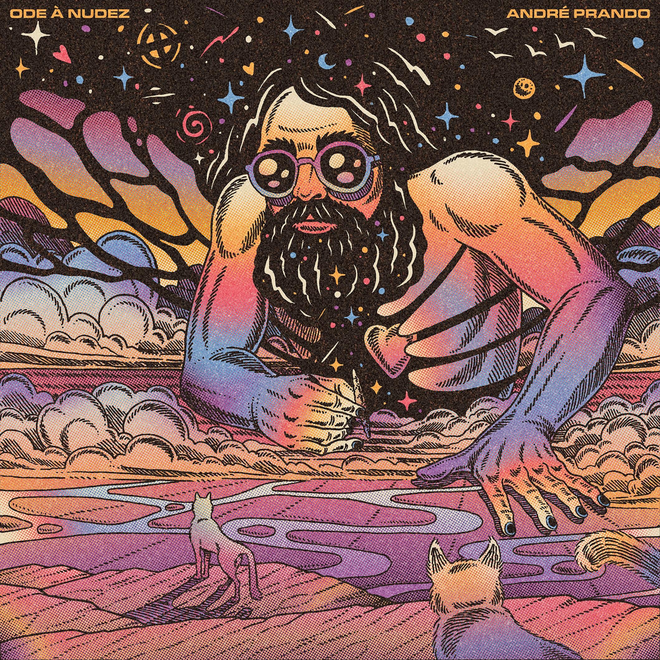 capa do single Ode à Nudez por Caramurú.