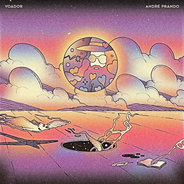 VOADOR - Capa do disco (arte de Caramurú Baumgartner)