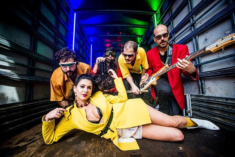 LETO & banda Freak nas gravações do vídeo de 'Afim'.