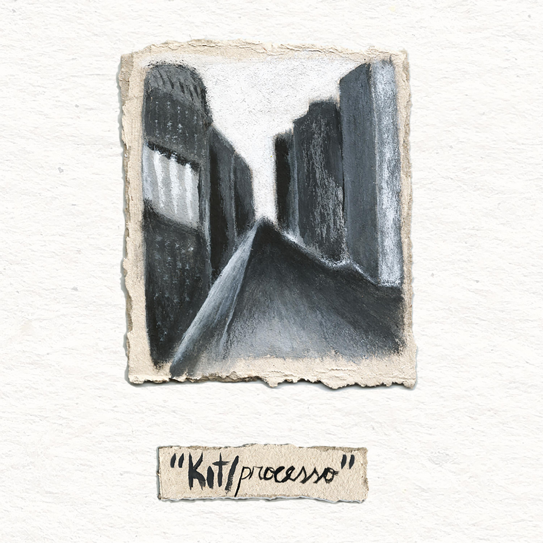 arte da capa de 'kit/processo' por Caio Campos
