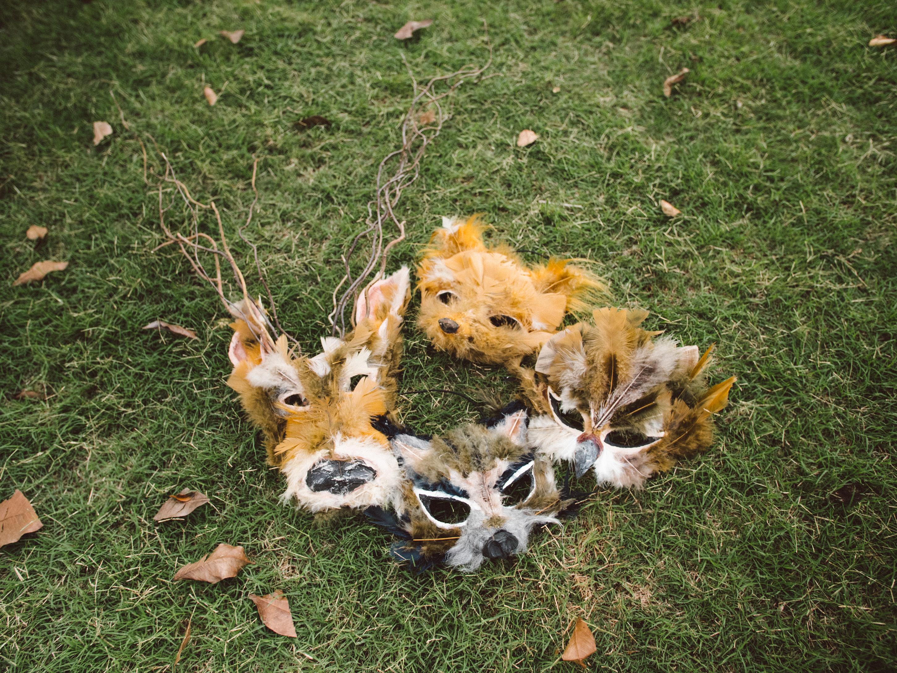máscaras criadas por Venus Wave & Ilka Rehder