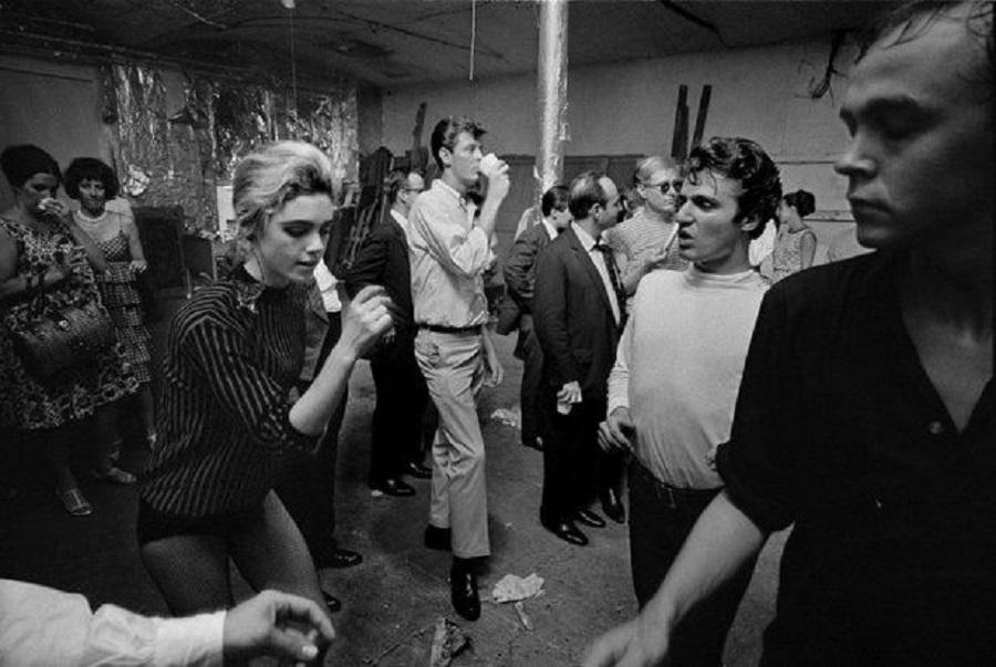 festa no estúdio Factory, 1965.